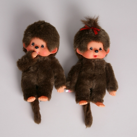 monchichi monkeys boy and girl