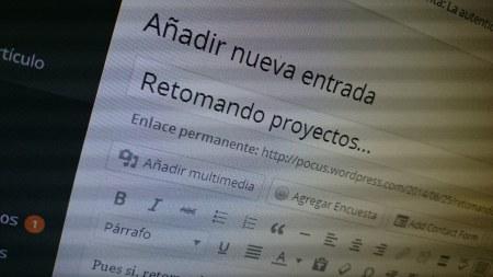 Retomando proyectos...